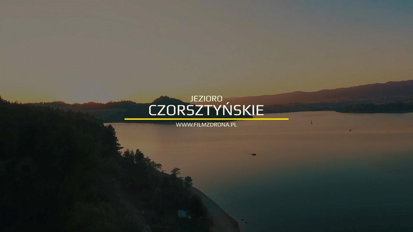 Jezioro Czorsztyńskie z Drona