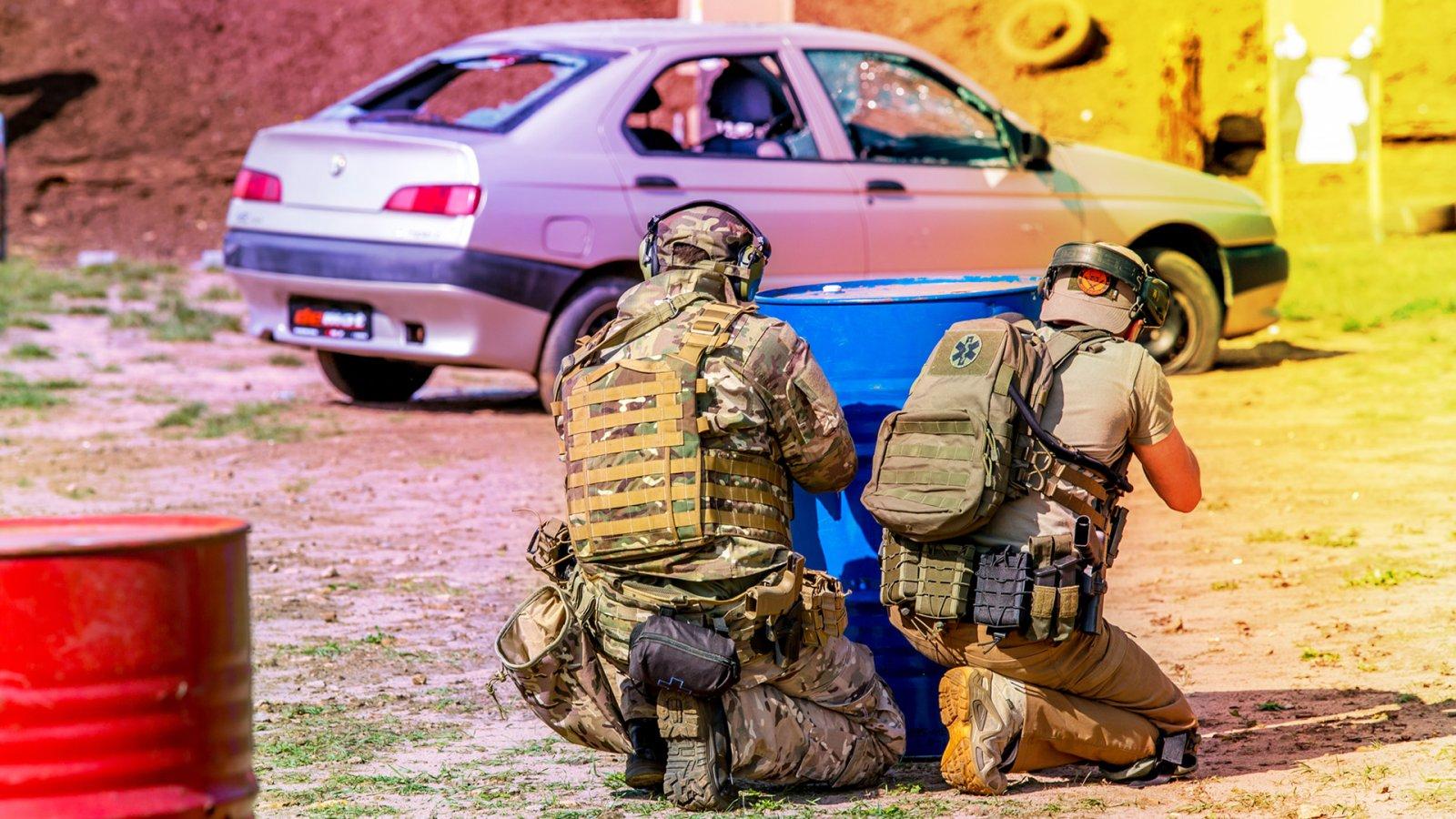 Strzelanie Bojowe z użyciem samochodów cz1