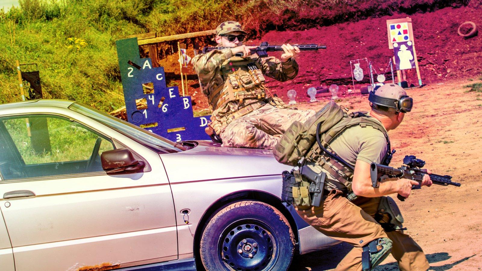 Strzelanie Bojowe z użyciem samochodów cz2